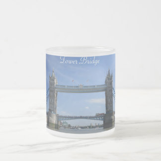 Tower Bridge - British 10 Oz Frosted Glass Coffee Mug