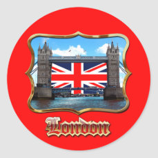 Tower Bridge Classic Round Sticker