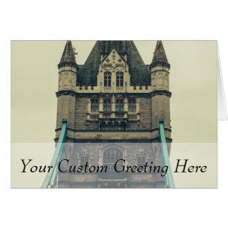 Tower Bridge Closeup, London, United Kingdom Card