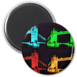 Tower Bridge Collage 2 Inch Round Magnet
