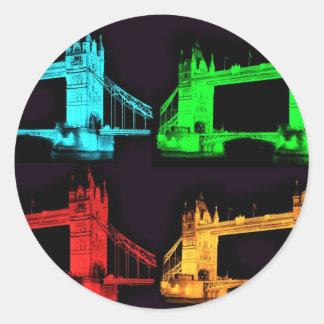 Tower Bridge Collage Classic Round Sticker