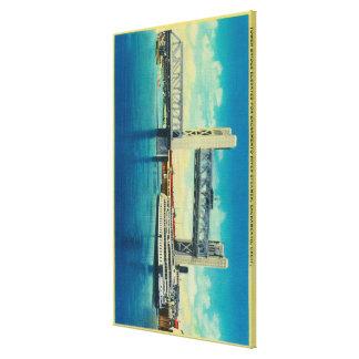 Tower Bridge Elevated for Sacramento River Canvas Print