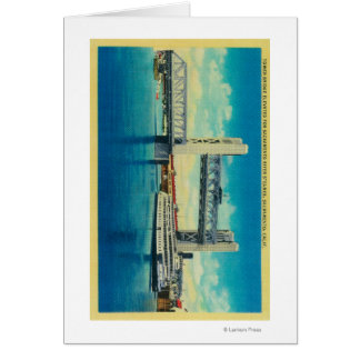 Tower Bridge Elevated for Sacramento River Greeting Card