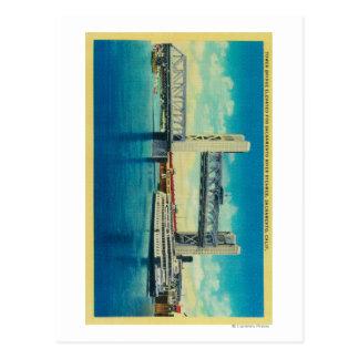 Tower Bridge Elevated for Sacramento River Postcard