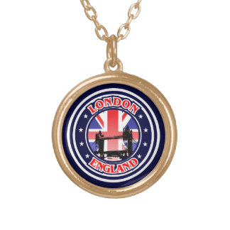 Tower Bridge Gold Plated Necklace