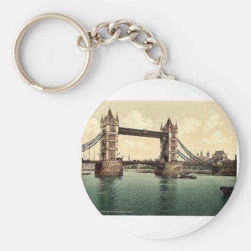 Tower Bridge, III. (open), London, England rare Ph Keychain