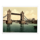 Tower Bridge, III. (open), London, England rare Ph Postcards