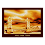 Tower Bridge in Gold Poster