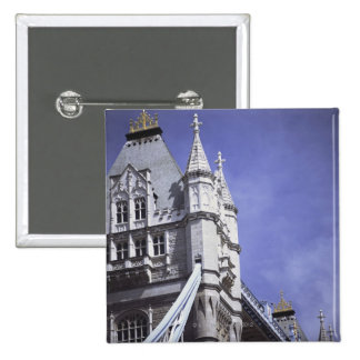 Tower Bridge in London, England 2 Inch Square Button