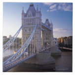 Tower Bridge in London Large Square Tile