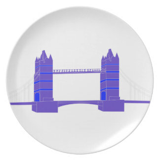 Tower Bridge In London Party Plates