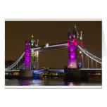 Tower Bridge in Princess pink Card