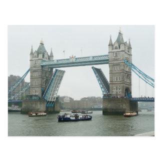 Tower Bridge is raised Postcards