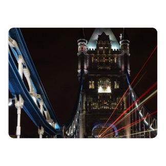 Tower Bridge Lights London United Kingdom Europe Card