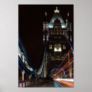 Tower Bridge Lights London United Kingdom Europe Poster