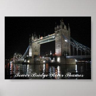 Tower Bridge London at Night Print