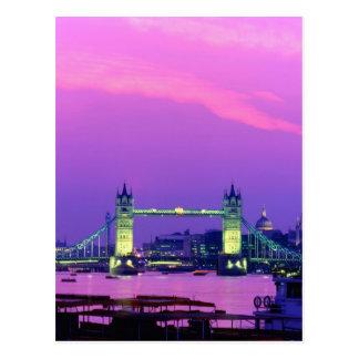Tower Bridge, London, England 2 Postcard