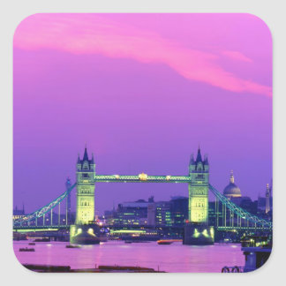 Tower Bridge, London, England 2 Square Sticker