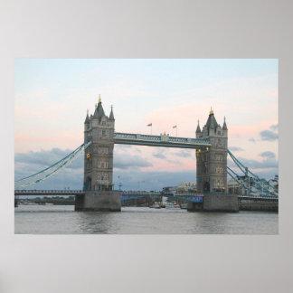 Tower Bridge, London England poster