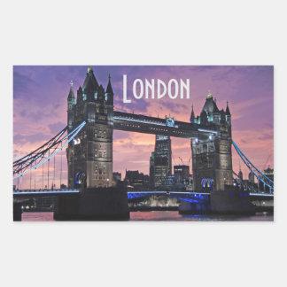 Tower Bridge London England Rectangular Sticker