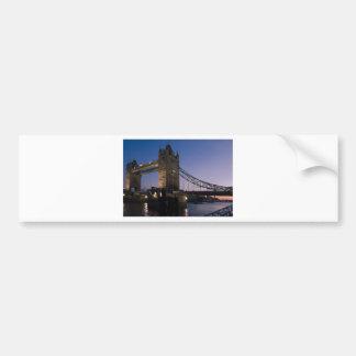 Tower Bridge London England Water Night City Bumper Stickers