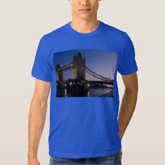 Tower Bridge London England Water Night City Tee Shirt