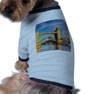 Tower Bridge London opening Dog Tee Shirt