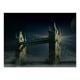 Tower bridge, london poster