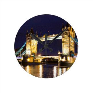 Tower Bridge London Round Clock