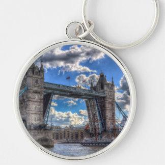 Tower Bridge London Silver-Colored Round Keychain
