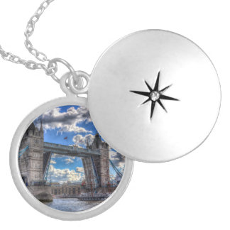 Tower Bridge London Silver Plated Necklace