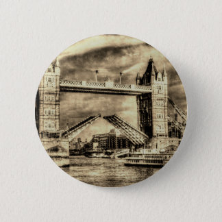 Tower Bridge London Vintage Button