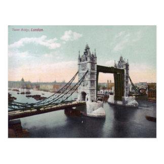 Tower Bridge London Vintage Postcard