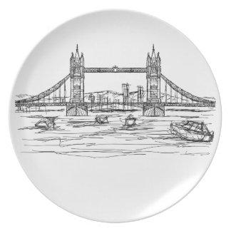 tower bridge of London Plate
