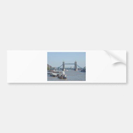 Tower Bridge on River Thames London UK Bumper Stickers