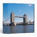Tower Bridge on the Thames River 3 Ring Binder