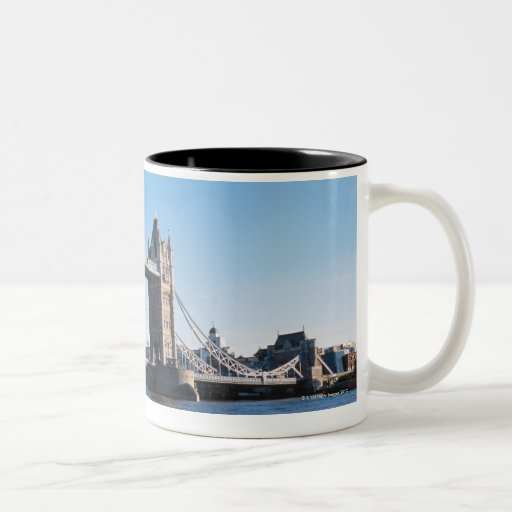 Tower Bridge on the Thames River Coffee Mugs