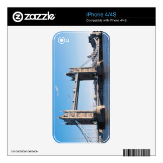 Tower Bridge on the Thames River Decal For iPhone 4