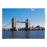 Tower Bridge on the Thames River Greeting Card