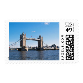 Tower Bridge on the Thames River Postage Stamps