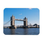 Tower Bridge on the Thames River Rectangle Magnet