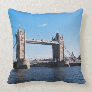 Tower Bridge on the Thames River Throw Pillow