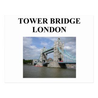 tower bridge ;ondon england postcard