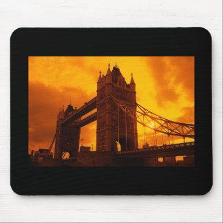 Tower Bridge Orange Light Mouse Pad