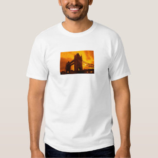 Tower Bridge Orange Light Tshirt