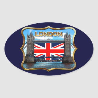 Tower Bridge Oval Sticker