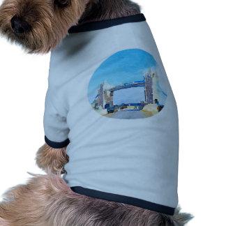 tower bridge,painting pet t-shirt