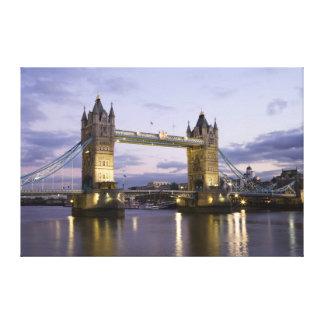 Tower Bridge River Thames London at Dusk - Canvas