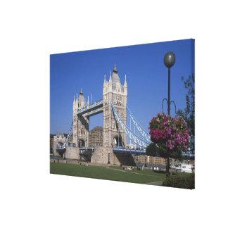 Tower Bridge, River Thames, London, England Canvas Print
