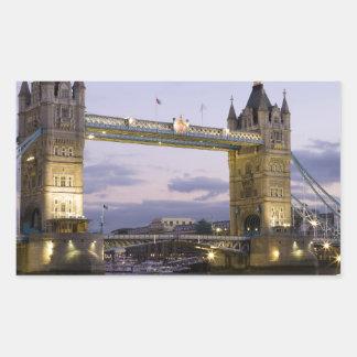 Tower Bridge River Thames London England Rectangular Stickers